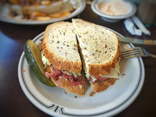 Find Matzah Ball Soup and Pastrami on Rye at Mamaleh's Deli Details