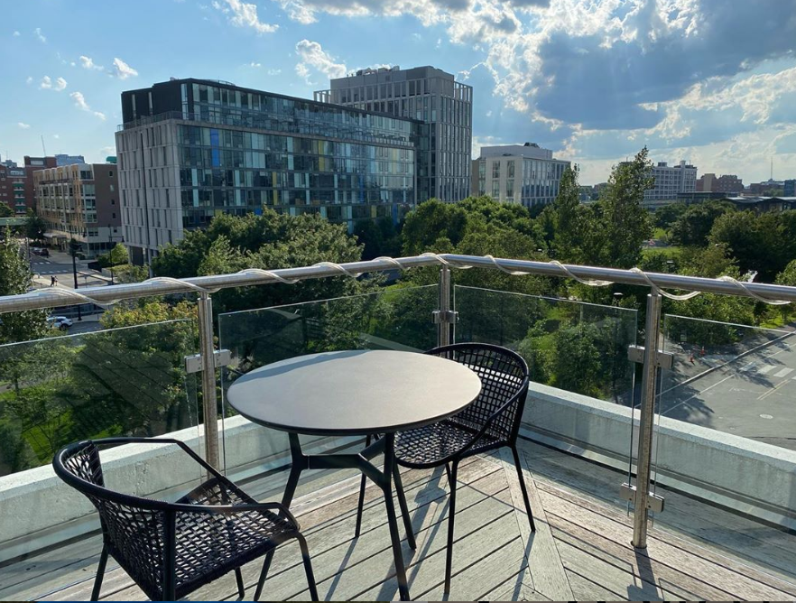Roof Deck Dining Minutes Away From Twenty20 Details